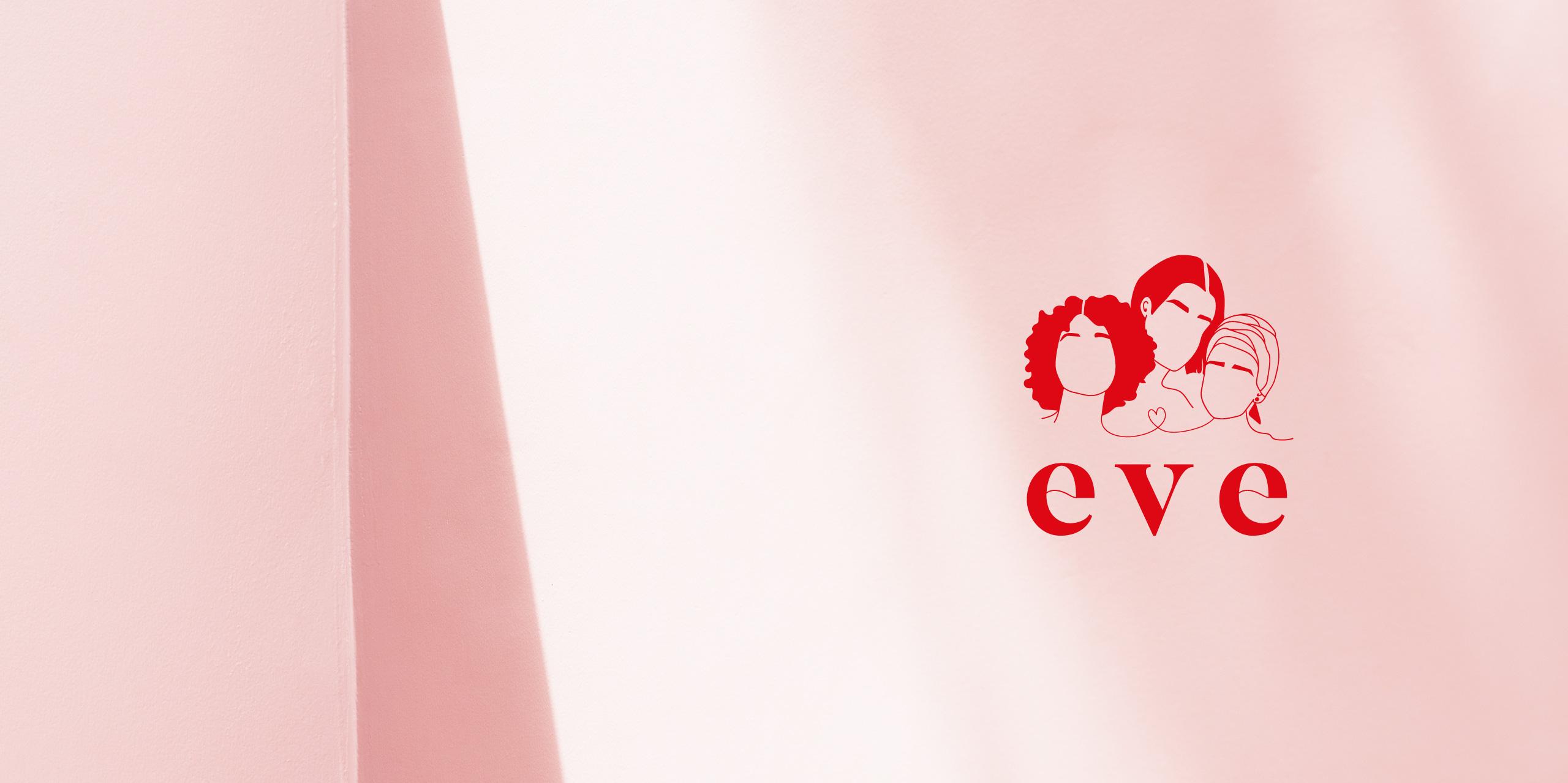 logo identité visuelle eve centre communautaire
