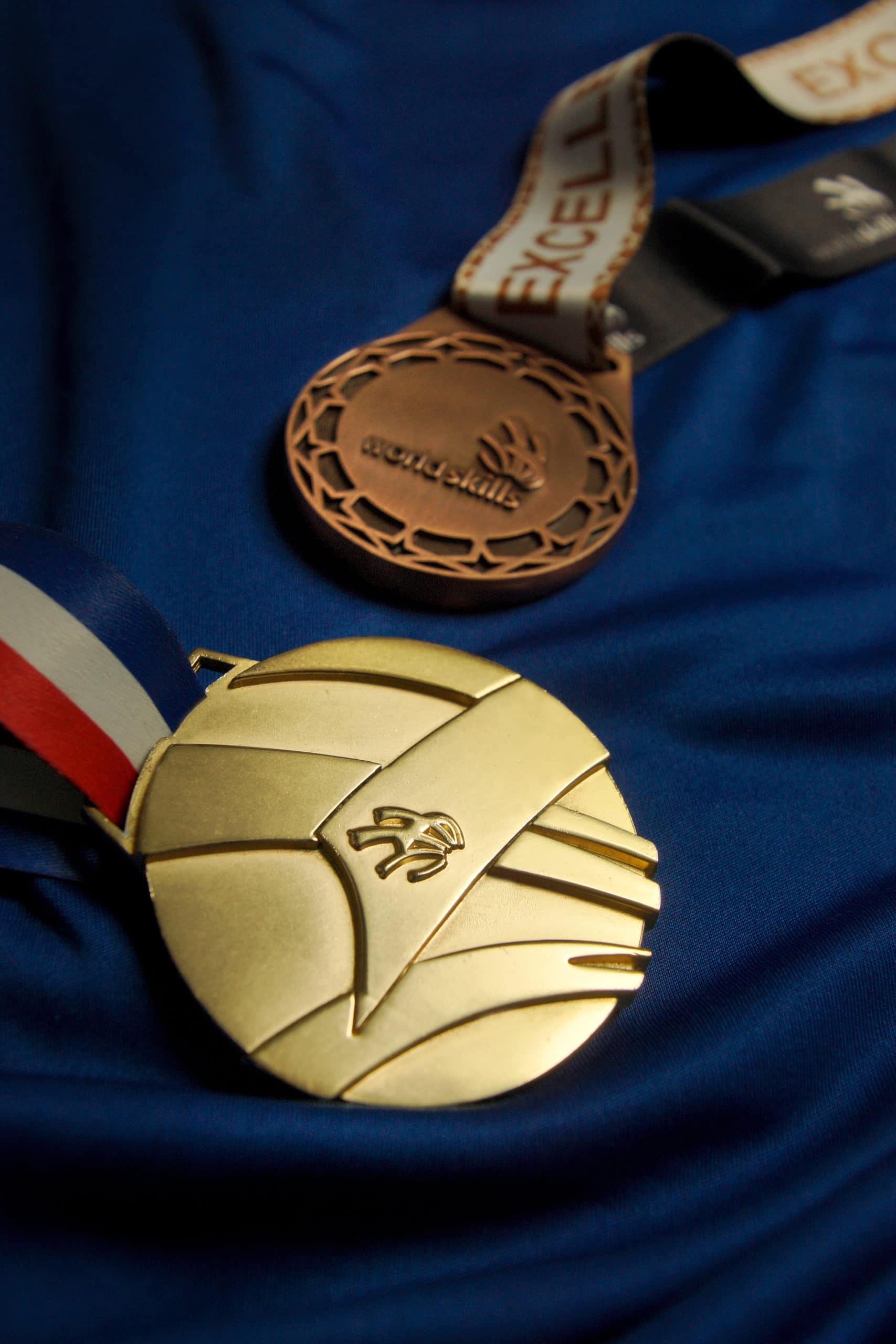 Médaille d'or et médaille d'excellence de la compétition Worldskills